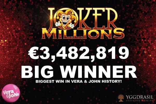 3億円大当たり!Vera&Jonh(ベラジョン)のジャックポットで当選!