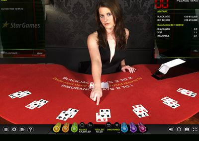 extreme live gaming blackjack