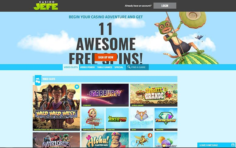 As soon as you start playing at CasinoJEFE your bounty meter gets activated. Claim instant rewards such as free spins and super spins