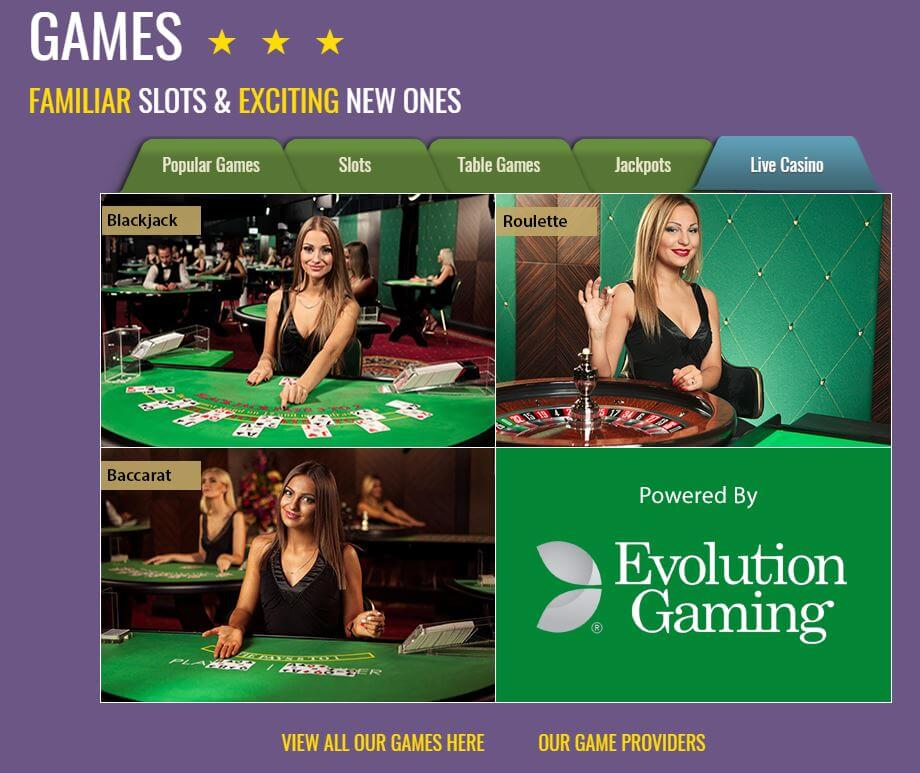 Play Live Casino from Evolution, Extreme and Xpro