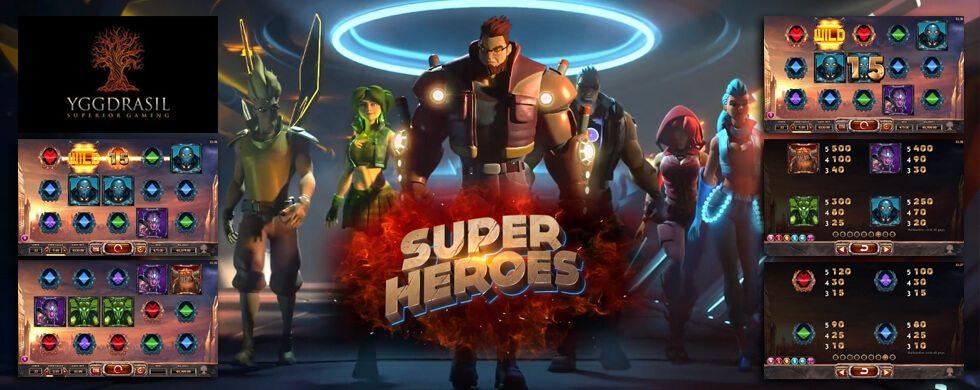 Super Heroes Yggdrasil Video Slotjpg