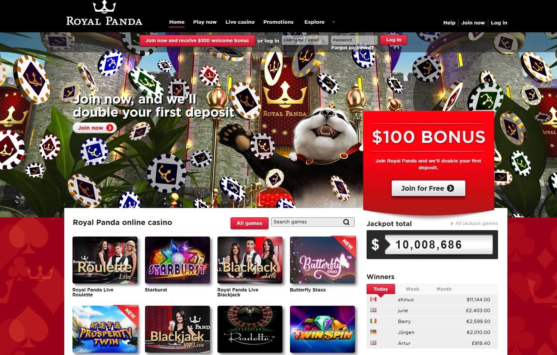 royal panda casino bonus