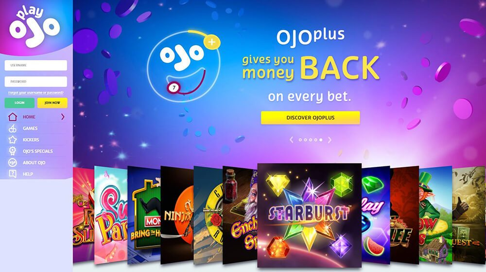 PlayOJO Gives you money back on every bet