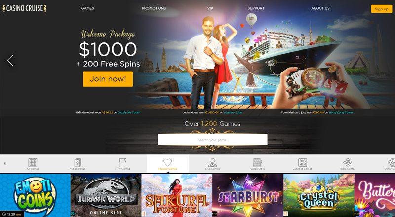 CasinoCruise 1000 dollar casino bonus