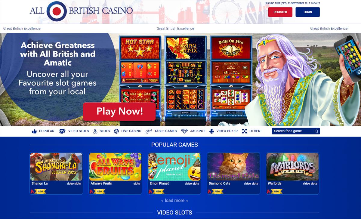 All British Casino - The Casino For UK Players