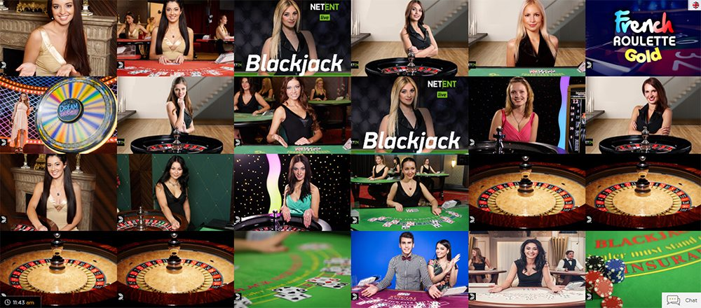 Play Live Casino from Evolution, NetEnt and Lucky Streak
