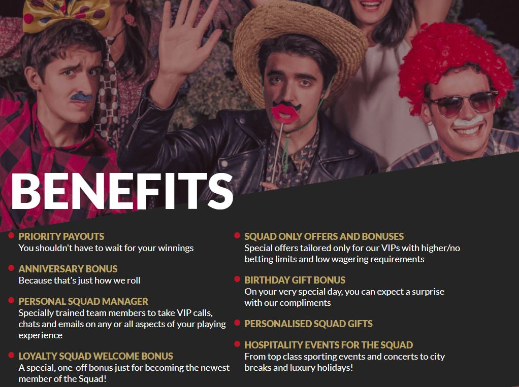 Join the GUTS squad if you're a regular player for some exclusive benefits!