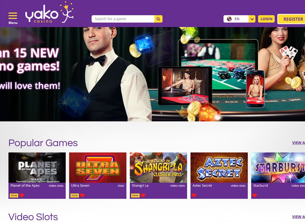 Welcome to Yako Casino where everyone is a VIP