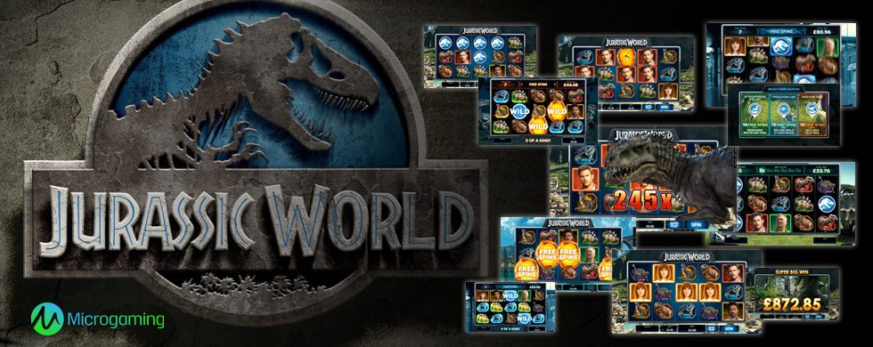 jurassic world video slot from microgaming