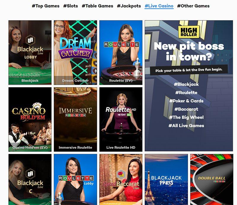 Highroller.com Live Casino