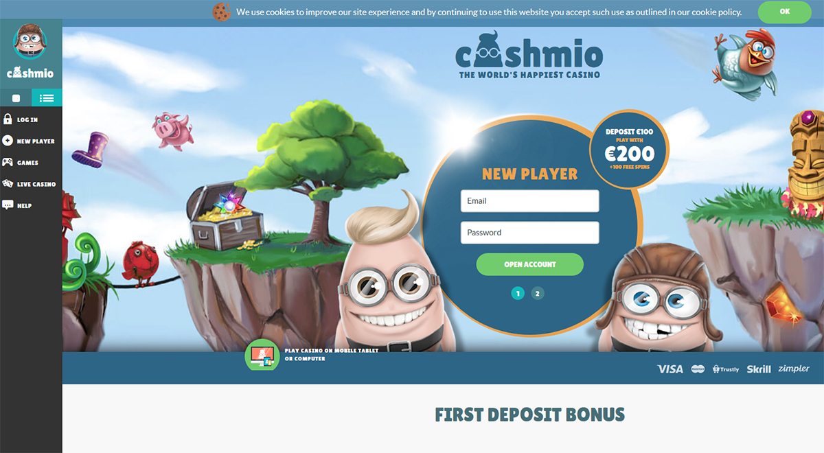 Cashmio Review - Start Your Casino Adventure