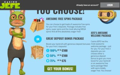 Casino Jefe Looking to Spread Some Joy This Wednesday – €5,000 Jackpot Among the Prizes