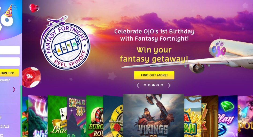 PlayOJO's First Birthday and a Promotion Offer to Celebrate It: Get Your Fantasy Fortnight Tickets Now