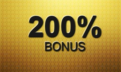 200% Einzahlungsbonus