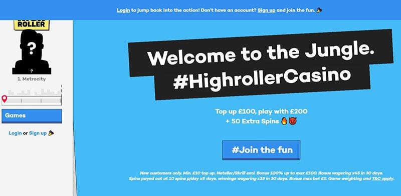 Highroller.com - The nr1 online casino for Highrollers