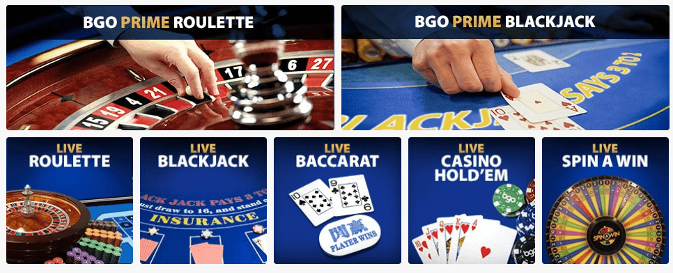 Bgo only offers Playtech's Live Casino
